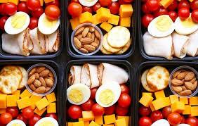 Eier, Obst und Gemüse