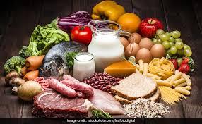 Teller mit Lebensmittel